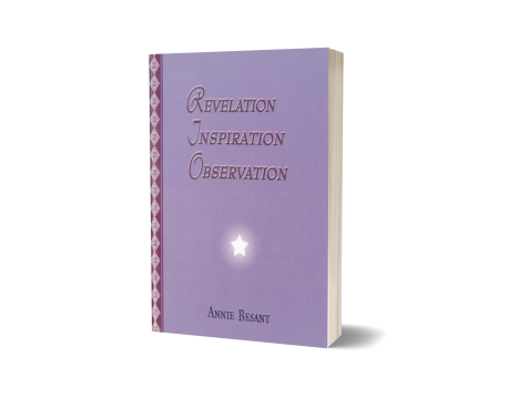 REVELATION - INSPIRATION - OBSERVATION